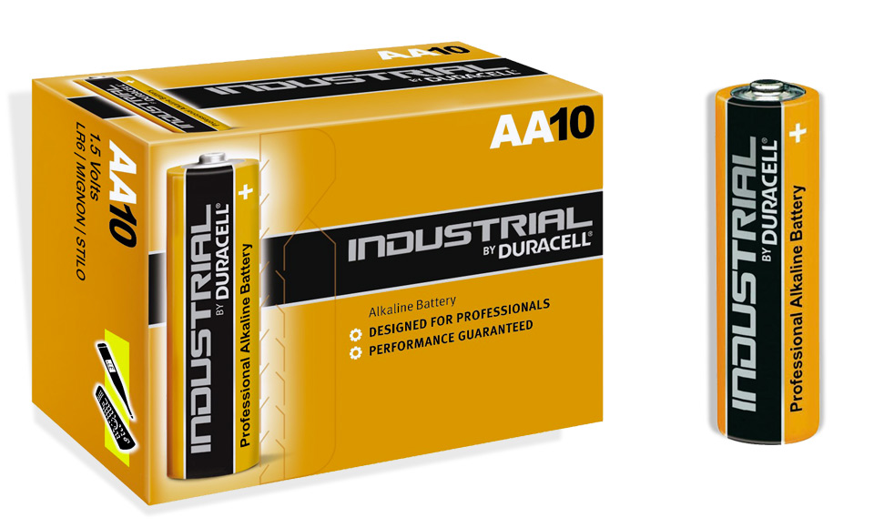 Dettagli su  10 Pile DURACELL INDUSTRIAL Stilo AA LR6 Alcaline Pila Alta Capacità (VM8)