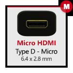 Micro-HDMI D Maschio