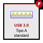 USB 3.0 tipo A Femmina
