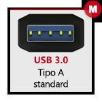 USB 3.0 tipo A Maschio