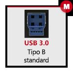 USB 3.0 tipo B Maschio
