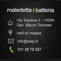 maledettabatteria indirizzo: Via Toscana 3 - 10099 San Mauro Torinese (Torino)
